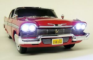 Autoworld-1-18-Scale-1958-Plymouth-Fury-Christine-With-Lights-Diecast-Model-Car