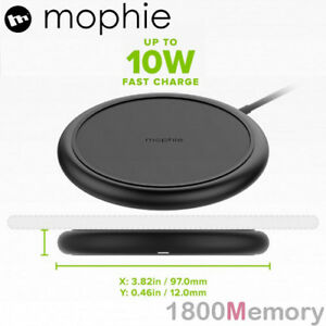 buy popular 7b4fd 56942 Details about GENUINE Mophie Charge Stream Pad+ Wireless Qi 10W Fast  Charger Black iPhone