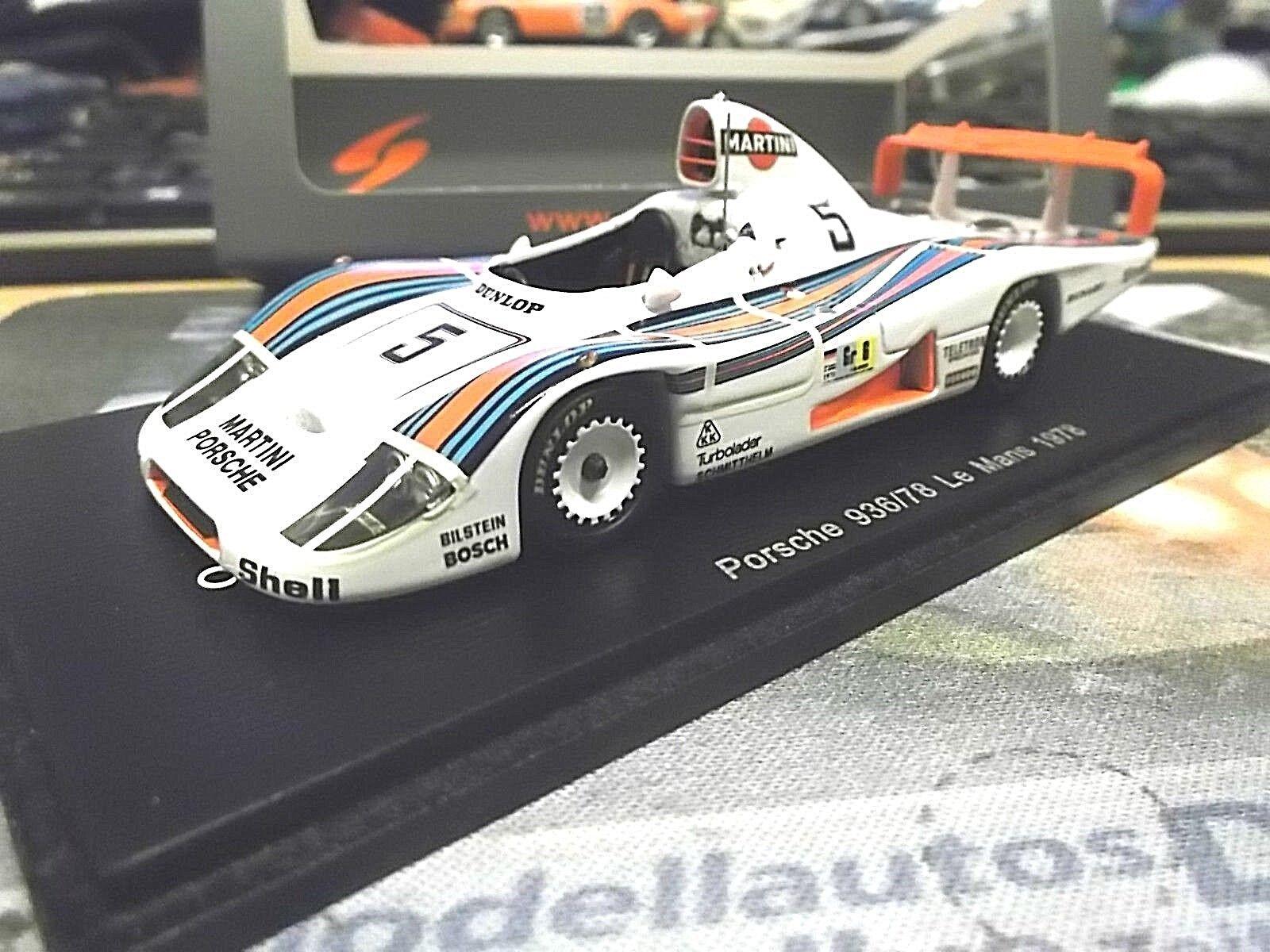 Porsche 936 81 le mans 1978 Martini pescarolo mass Ickx resin Spark 1 43