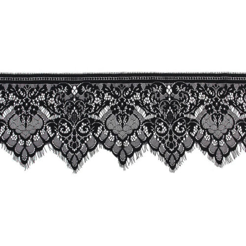 Wide Lace Trimming DIY Sewing Applique 3 Yard 19cm Y6W7