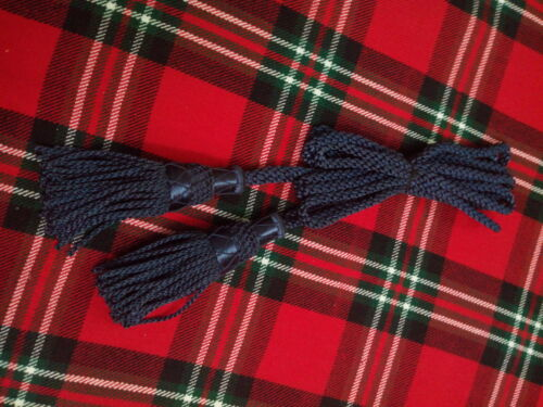 New Scottish Bagpipe Drone Cord Silk Navy Blue Color//Highland Bagpipe Silk Cord