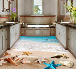 3D Playa Delfines Papel Pintado Mural Parojo Impresión de suelo 573 5D AJ Wallpaper Reino Unido Limón