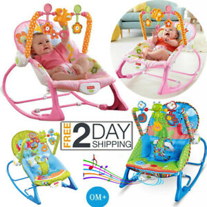 Baby Rocker Bouncer Reclining Chair Soothing Music Vibration Toys