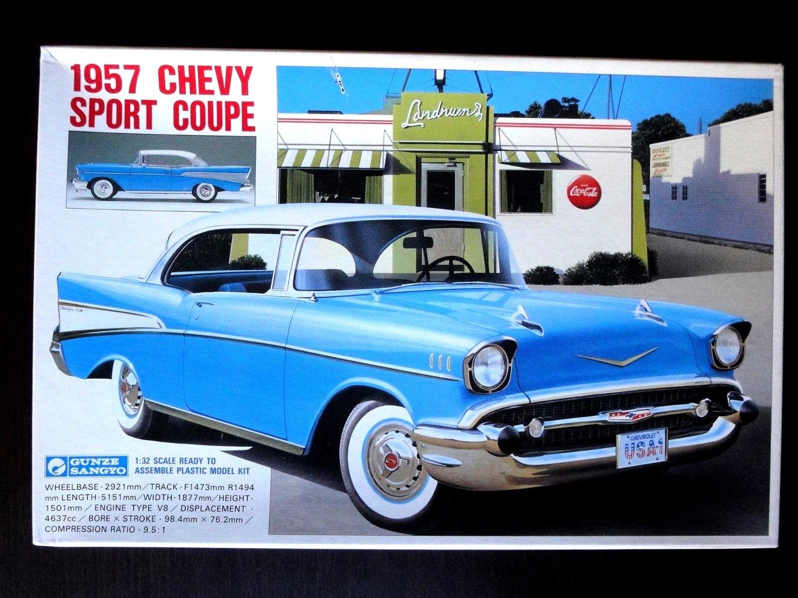 GUNZE 1 32 Chevrolet '57 CHEVY Sport Coupe HISTORIC Car Ultra Rare Vintage