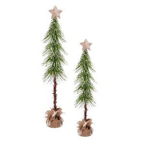 Grasslands Road - Christmas -Bottle Brush Trees with Star, Set of 2 - 471401