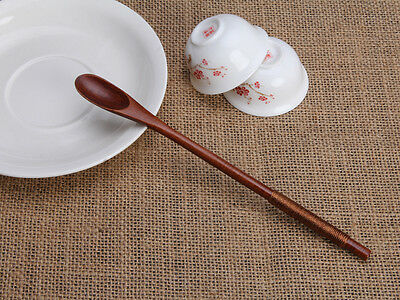 1 pcs Long Stirring Spoon Wooden Coffee Honey Utensil Kitchen Tool-7.8inch