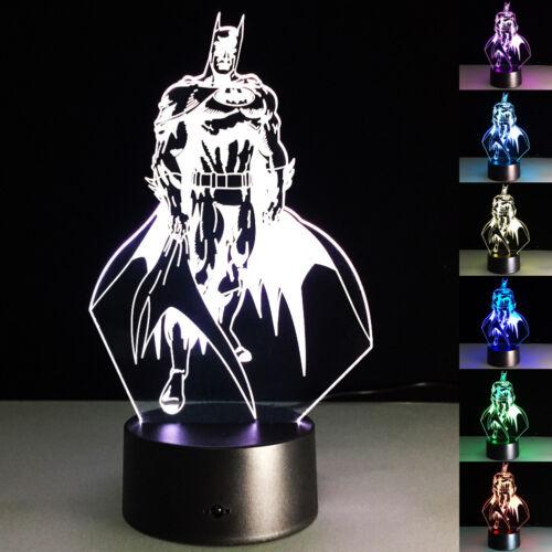 3D LED The Joker Batman Superman Tischleuchte Tischlampe Nachtlicht  Leselampe