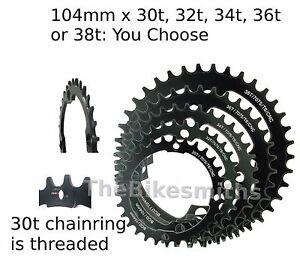 Shun-104mm-x-30-38t-NW-Narrow-Wide-1x-Bike-CNC-Chain-Ring-fits-Race-Face-Black