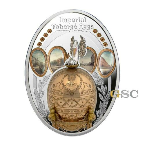 Pelican Egg silver coin Imperial Faberge series Niue Island 2018