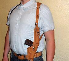 Shoulder gun holster Ruger lc9, Taurus PT709, Makarov  genuine leather mod.100-2