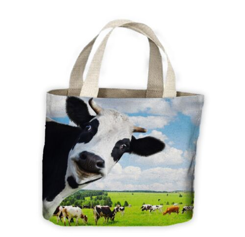 Cow Funny Tote Shopping Bag For Life