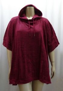 7ca2d6cf0a Image is loading Plus-size-Berry-Black-Poncho-Caftan-Sweatshirt-Sweater-