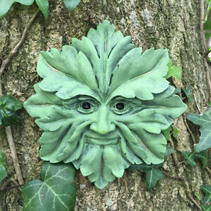 Greenman Decorative Garden Wall Plaque Green Man Star 12cm