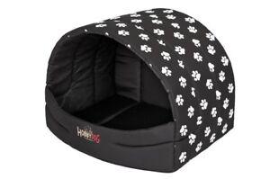 Berth Cottage Dog Cave Maison pour Chien My Home Paw Noir