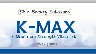2oz -K MAX-  Maximim Strength Vitamin K Cream  Rosacea, Puffy Dark Eye Circles