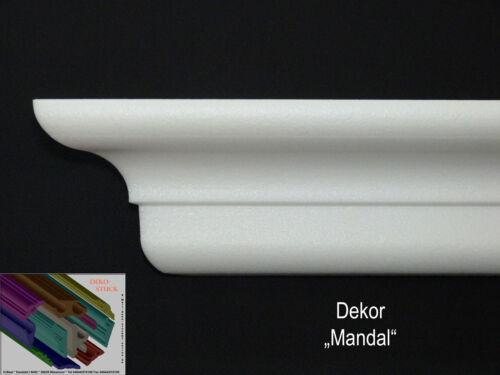 "8 I-A Ecken 7cm x 6,1cm Stuckleiste Stuckprofil Zierprofil /""Mandal/"" 30 Meter"