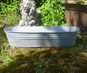 Pot de fleurs Zuber Décoration de jardin jardin baignoire zinc ...