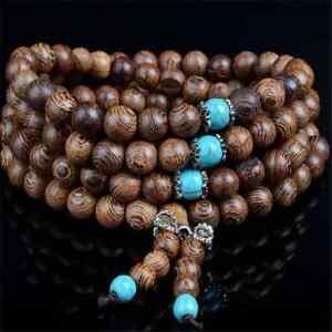 New-Sandalwood-Buddhist-Buddha-Meditation-Prayer-Bead-Mala-Bracelet-Necklace-6mm
