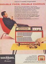 Publicité SOCRADEL Armor Poste Radio transistor photo vintage print ad 1959 - 3h