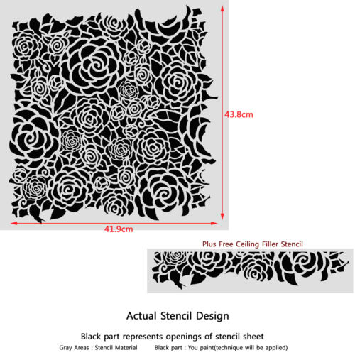 Wall Lace Roses Decorative Stencil Calla for Home Painting Decorating DIY Decor