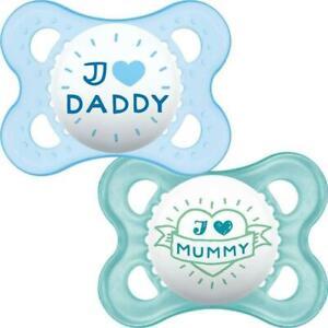 MAM-Chupete-Estilo-Bebe-Chupetes-Suave-Seda-tetilla-ligero-6-meses-2-Pack