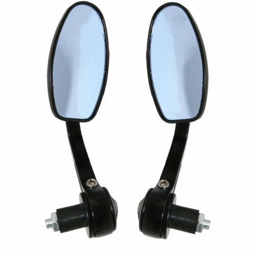 "7//8/"" Handlebar End Rearview Mirrors for Honda Kawasaki Suzuzki Cafe Racer Bobber"