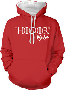 Big Hodor Character Tone Giant Hoodie Quote Television Show One Two Sweatshirt wqxfIA