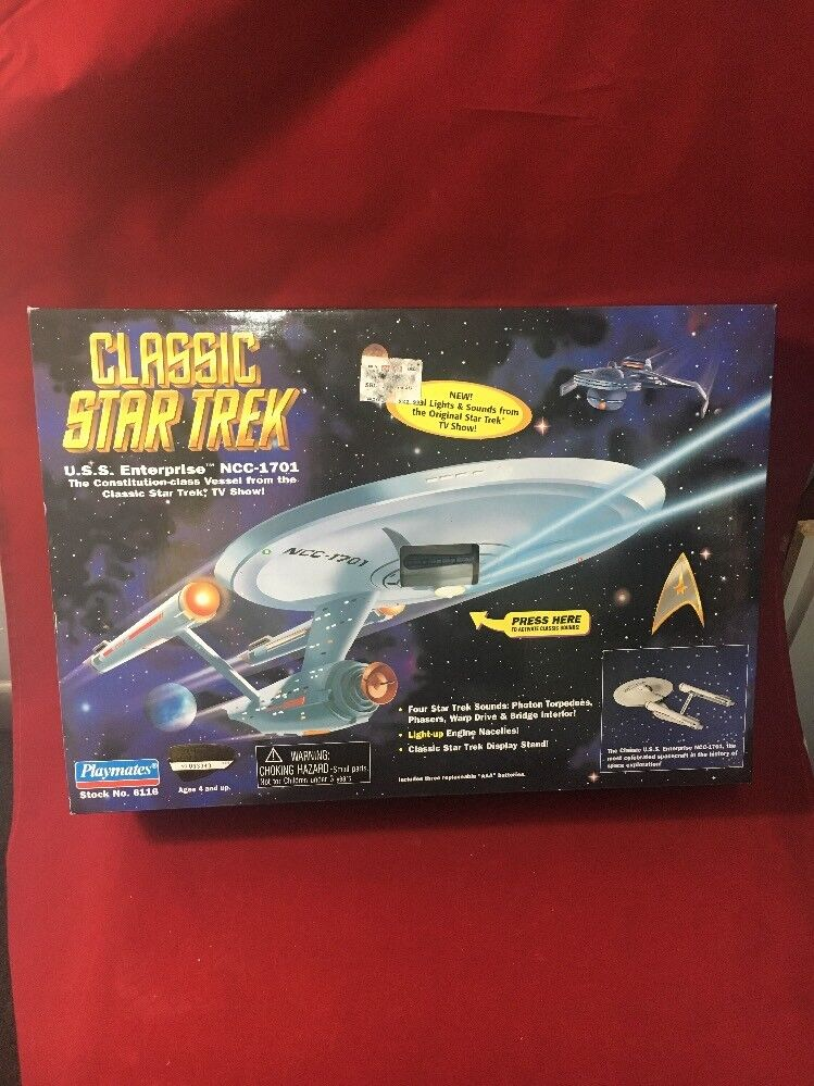 1995 Playmates Classic Star Trek U.S.S. Enterprise NCC-1701 Electronic SEALED