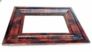 Antique-American-Empire-Wall-Mirror-Federal-Furniture-Crotch-Flame-Mahogany