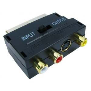 SCART-Adaptor-AV-Block-To-3-RCA-Phono-Composite-S-Video-With-In-Out-Switch-GOLD
