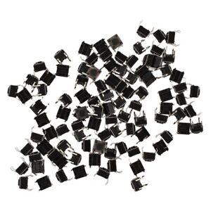 100Pcs Momentary  Panel PCB Tactile Tact Push Button Switch 4Pin  6x6x4.5mm TS