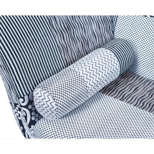 Canapé De Haute Qualité Avec Tissu Velours Et Motifs En Bois Massif