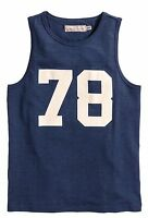 H&m Boys Tank Top Dark Blue Sleeveless Outfit Clothes Size 12-14, 14+
