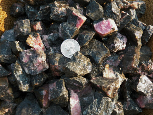 2000 Carat Lots of Rhodonite Rough Plus a FREE Faceted Gemstone