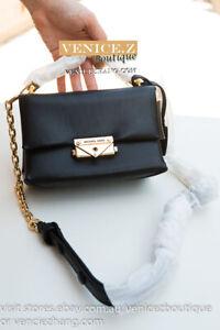 BNWT-MICHAEL-KORS-CECE-XS-Chain-Crossbody-Clutch-Shoulder-Bag-Leather-Black