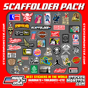 Scaffolder (40+) Hard Hat Stickers Hardhat Sticker & Decals, Scaffold Carpenter Bien Vendre Partout Dans Le Monde