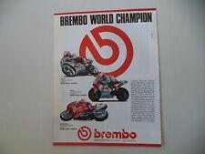 advertising Pubblicità 1990 BREMBO e RAYMOND ROCHE DUCATI 851/JOHN KOCINSKY