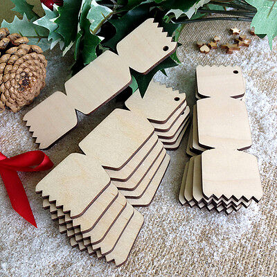 Wooden CHRISTMAS CRACKERS Birch Decoration Tag Art Craft Shapes to decorate  x10