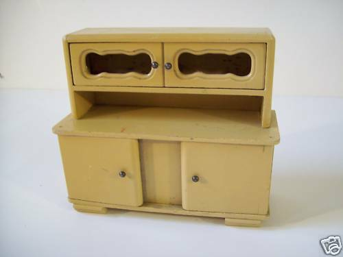 Dollhouse Miniature Wood Kitchen Cabinet Hutch Germany