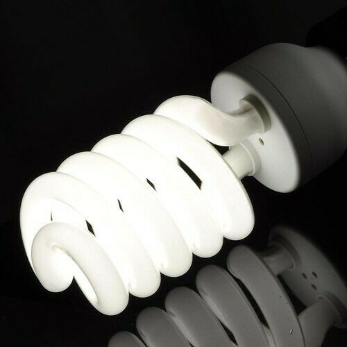 4x55W Photography Daylight Bulbs Studio Energy Saving Flourescent Lamp E27 5500K