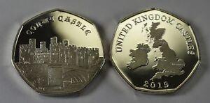 CONWY CASTLE Silver Commemorative Coin Albums/50p Collectors NEW 2019 SERIES