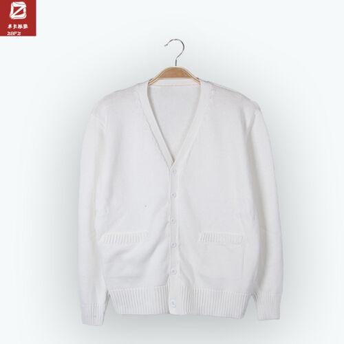 Japanese V-neck Long-sleeved Cardigan JK Uniform 7pin Thick Cosplay Girl Sweater