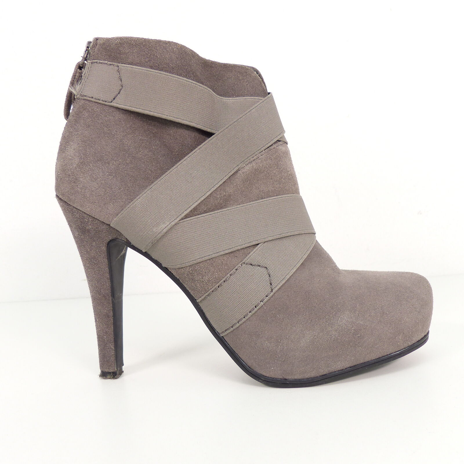 APEPAZZA Damen Schuhe grau Ankle Stiefel Gr. EU 39 Leder Leather schuhe