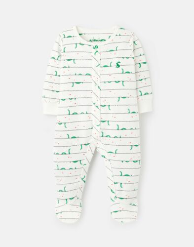 White Nessie Joules Baby Boys Ziggy Cotton Printed Sleepsuit 0-12 Months