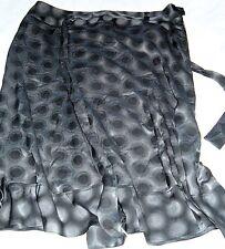 M&S Marks & Spencer Circle Grey Black A Line knee length skirt size 18 new