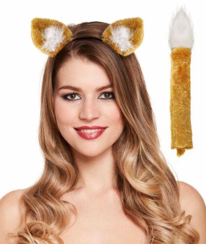 Funky Fox Set Book Week Roald Dahl Ears Tail Fancy Dress Headband Light Brown
