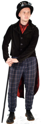 Steampunk-Victorian-Edwardian DELUXE Black Velvet TAILCOAT All Sizes SML-XXXXL