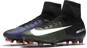 new product 1a1ef e429a Image is loading Nike-Mens-MERCURIAL-SUPERFLY-V-FG-BLACK-WHITE-