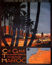 Rabat Morocco Arab Arabic French Tourism Travel Vintage Poster Repro FREE S//H