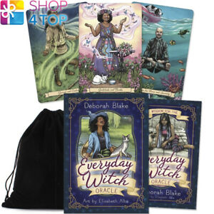 Everyday-Witch-Oracle-Cards-Deck-Esoteric-Deborah-Blake-Llewellyn-Pouch-New